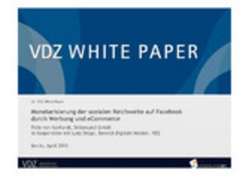 eBook Monetarisierung der Sozialen Reichweite auf Facebook durch Werbung und eCommerce Cover