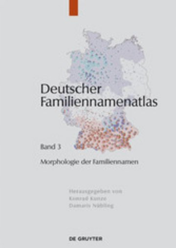 eBook Morphologie der Familiennamen Cover