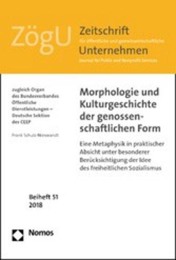 eBook Morphologie und Kulturgeschichte der genossenschaftlichen Form Cover