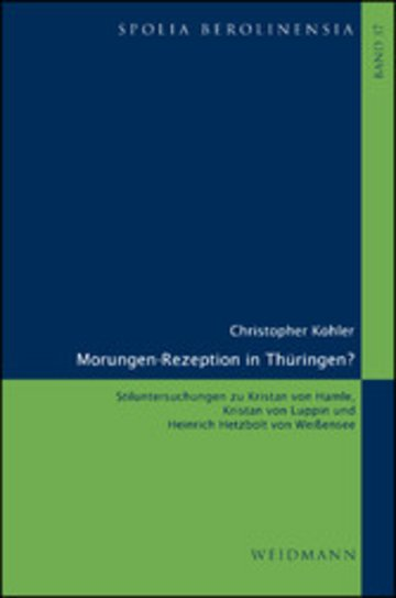 eBook Morungen-Rezeption in Thüringen? Cover