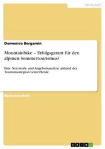 eBook Mountainbike - Erfolgsgarant für den alpinen Sommertourismus? Cover