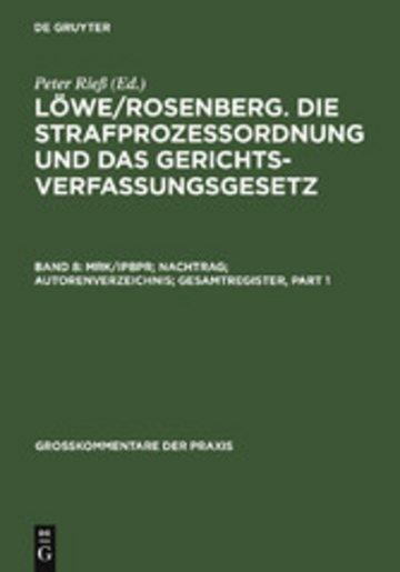 eBook MRK/IPBPR; Nachtrag; Autorenverzeichnis; Gesamtregister Cover