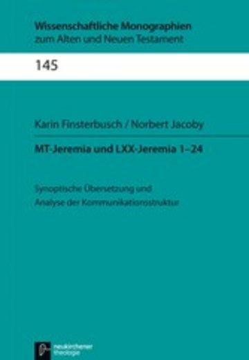 eBook MT-Jeremia und LXX-Jeremia 1-24 Cover