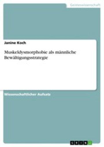 eBook Muskeldysmorphobie als männliche Bewältigungsstrategie Cover