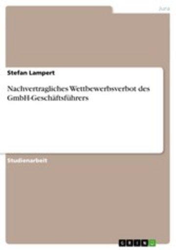 eBook Nachvertragliches Wettbewerbsverbot des GmbH-Geschäftsführers Cover
