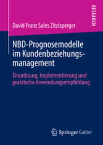 eBook NBD-Prognosemodelle im Kundenbeziehungsmanagement Cover