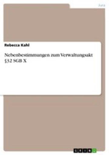 eBook Nebenbestimmungen zum Verwaltungsakt §32 SGB X Cover