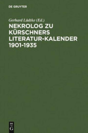 eBook Nekrolog zu Kürschners Literatur-Kalender 1901-1935 Cover