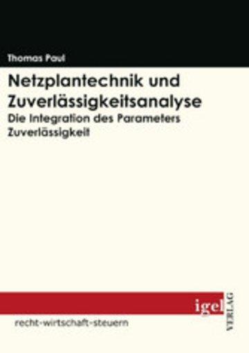 eBook Netzplantechnik und Zuverlässigkeitsanalyse Cover