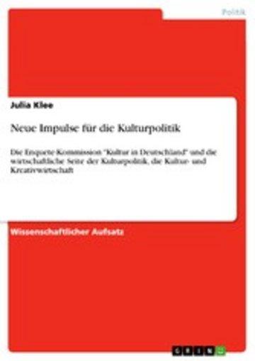 eBook Neue Impulse für die Kulturpolitik Cover