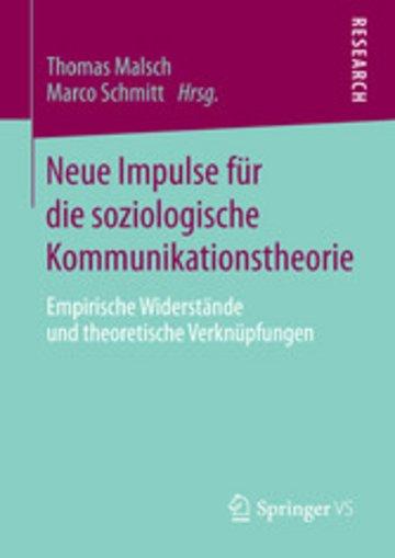 eBook Neue Impulse für die soziologische Kommunikationstheorie Cover