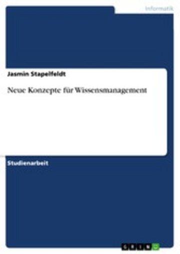eBook Neue Konzepte für Wissensmanagement Cover