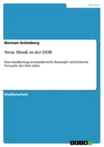 eBook Neue Musik in der DDR Cover
