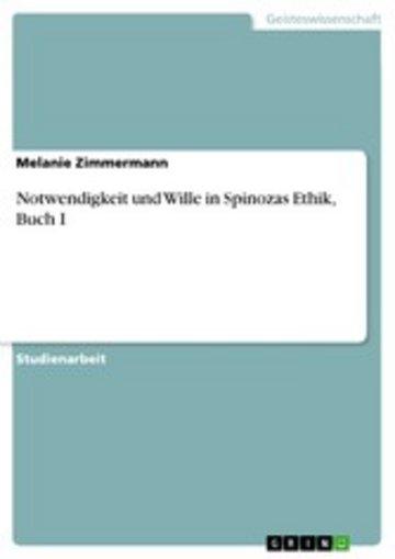 eBook Notwendigkeit und Wille in Spinozas Ethik, Buch I Cover