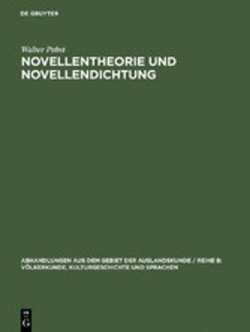 eBook Novellentheorie und Novellendichtung Cover
