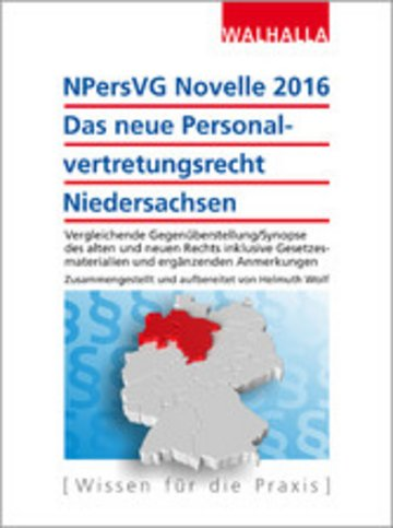 eBook NPersVG Novelle 2016: Das neue Personalvertretungsrecht Niedersachsen Cover