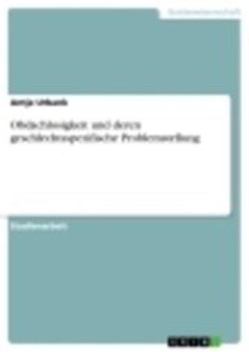eBook Obdachlosigkeit und deren geschlechtsspezifische Problemstellung Cover