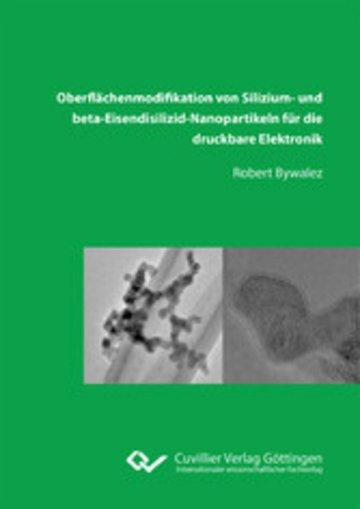 eBook Oberflächenmodifikation von Silizium‐ und beta‐Eisendisilizid‐Nanopartikeln für die druckbare Elektronik Cover