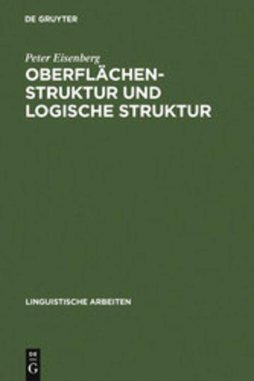eBook Oberflächenstruktur und logische Struktur Cover