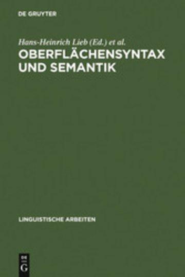 eBook Oberflächensyntax und Semantik Cover