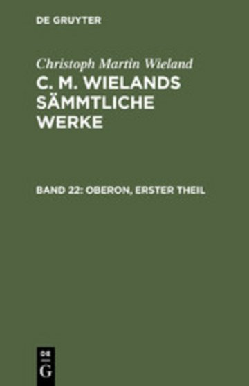 eBook Oberon, Theil 1 Cover