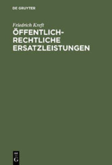 eBook Öffentlich-rechtliche Ersatzleistungen Cover