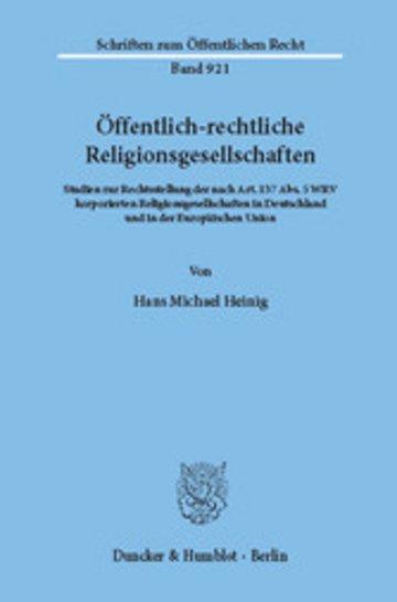 eBook Öffentlich-rechtliche Religionsgesellschaften. Cover