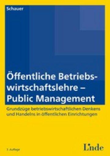 eBook Öffentliche Betriebswirtschaftslehre - Public Management Cover