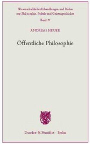 eBook Öffentliche Philosophie. Cover