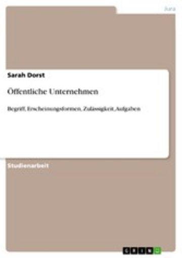 eBook Öffentliche Unternehmen Cover