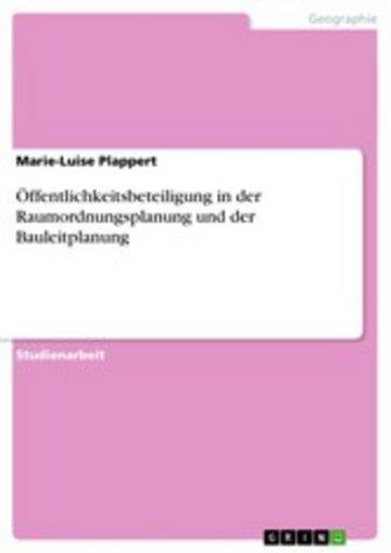 eBook Öffentlichkeitsbeteiligung in der Raumordnungsplanung und der Bauleitplanung Cover
