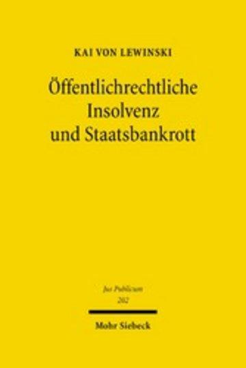 eBook Öffentlichrechtliche Insolvenz und Staatsbankrott Cover