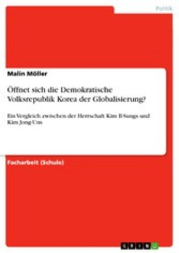 eBook Öffnet sich die Demokratische Volksrepublik Korea der Globalisierung? Cover