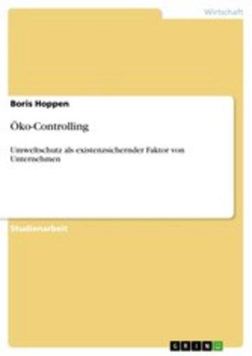 eBook Öko-Controlling Cover