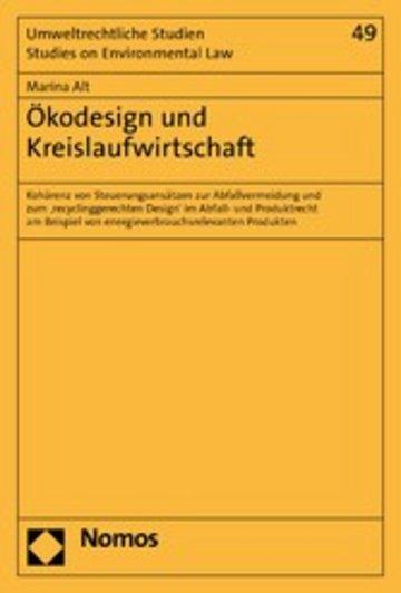 eBook Ökodesign und Kreislaufwirtschaft Cover