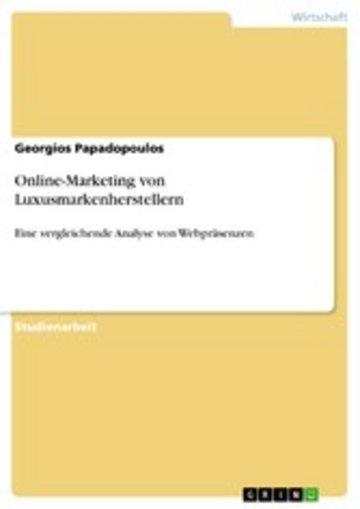 eBook Online-Marketing von Luxusmarkenherstellern Cover