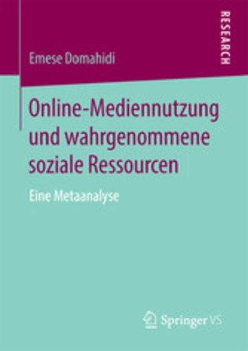 eBook Online-Mediennutzung und wahrgenommene soziale Ressourcen Cover
