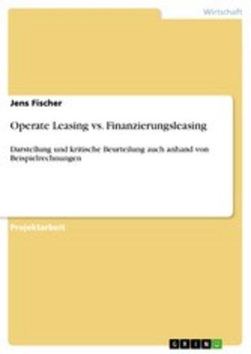 eBook Operate Leasing vs. Finanzierungsleasing Cover
