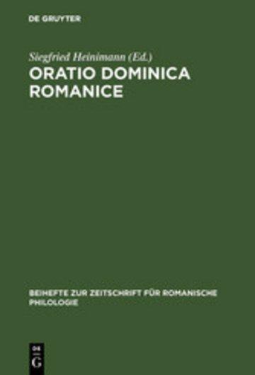 eBook Oratio Dominica Romanice Cover