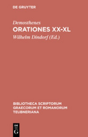eBook Orationes XX-XL Cover