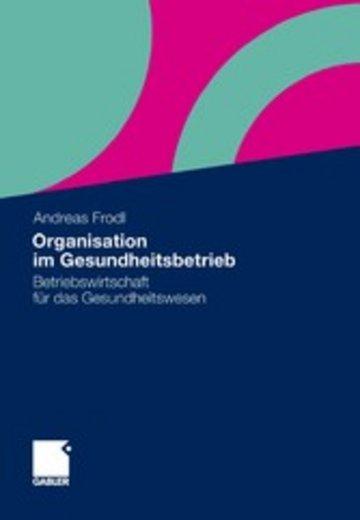 eBook Organisation im Gesundheitsbetrieb Cover