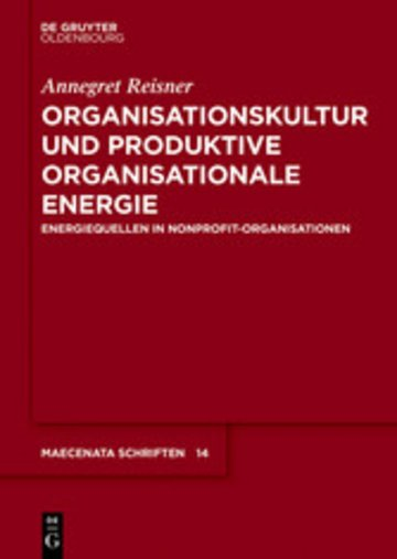 eBook Organisationskultur und Produktive Organisationale Energie Cover
