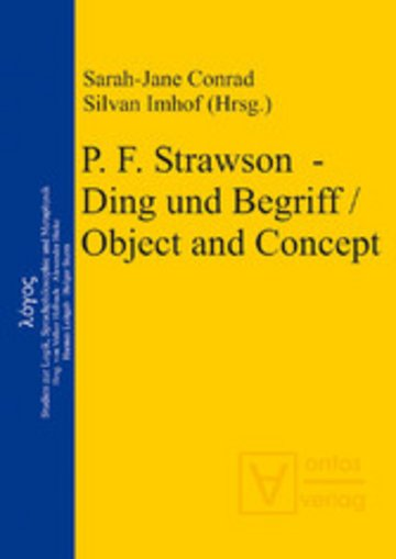 eBook P. F. Strawson - Ding und Begriff / Object and Concept Cover
