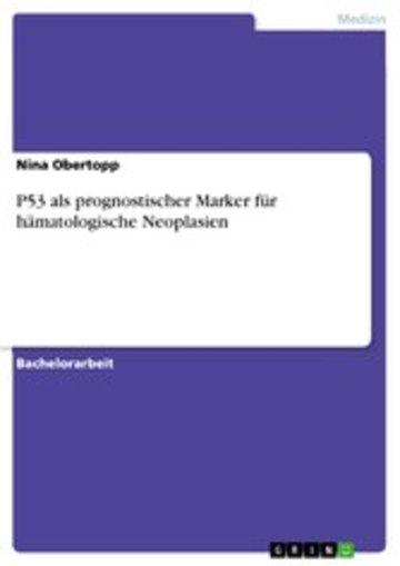 eBook P53 als prognostischer Marker für hämatologische Neoplasien Cover