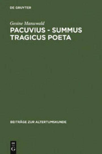 eBook Pacuvius - summus tragicus poeta Cover
