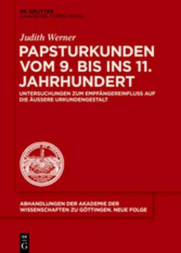 eBook Papsturkunden vom 9. bis ins 11. Jahrhundert Cover