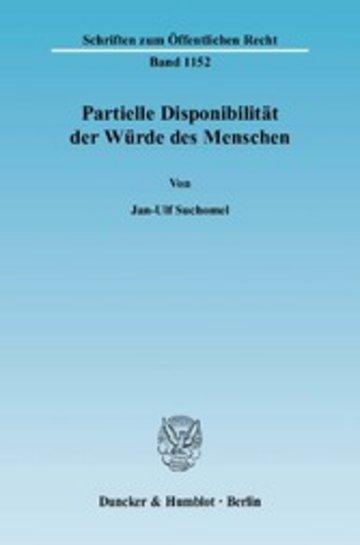 eBook Partielle Disponibilität der Würde des Menschen. Cover
