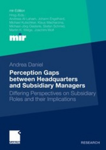 eBook Perception Gaps between Headquarters and Subsidiary Managers Cover