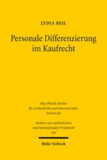 eBook Personale Differenzierung im Kaufrecht Cover
