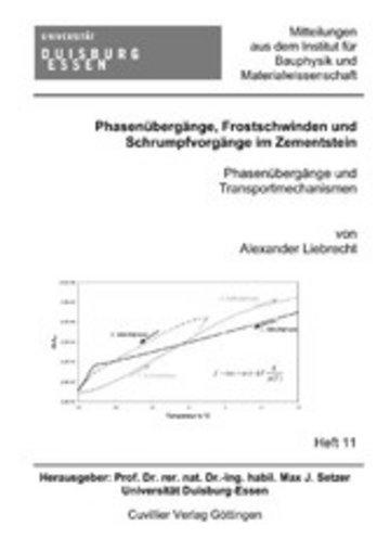 eBook Phasenübergänge, Frostschwinden und Schrumpfvorgänge im Zementstein Cover
